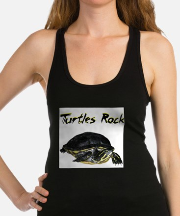 turtles_rock.jpg Racerback Tank Top