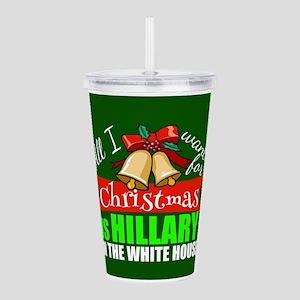 Hillary Christmas Acrylic Double-wall Tumbler