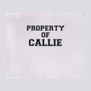 Property of CALLIE Throw Blanket