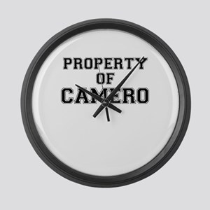 Property of CAMERO Large Wall Clock