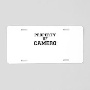 Property of CAMERO Aluminum License Plate