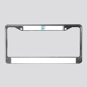 Unicorns Support Prostate Canc License Plate Frame