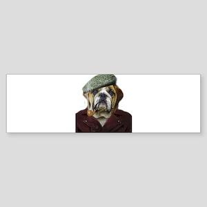 Hipster Dog Pet Bumper Sticker