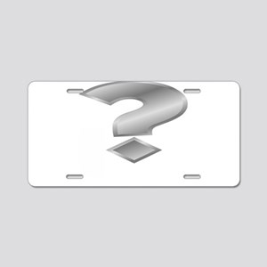 Silver Question Mark Aluminum License Plate