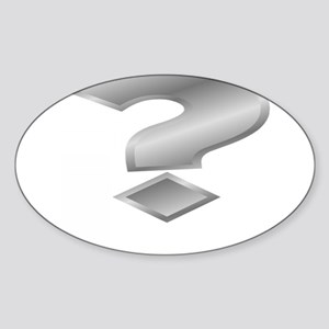 Silver Question Mark Sticker
