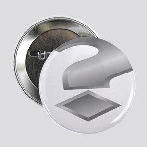 """Silver Question Mark 2.25"""" Button (10 pack)"""