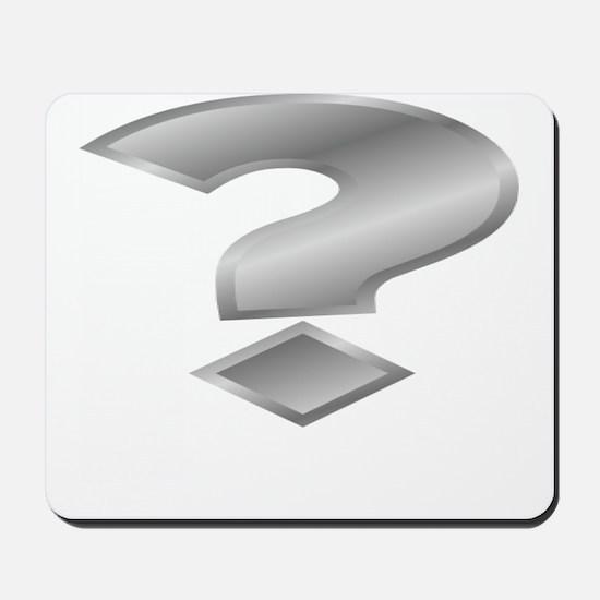 Silver Question Mark Mousepad