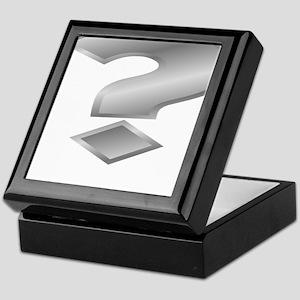 Silver Question Mark Keepsake Box
