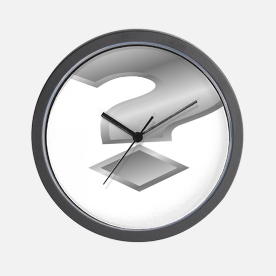 Silver Question Mark Wall Clock