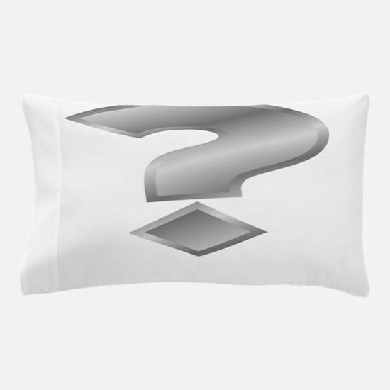 Silver Question Mark Pillow Case