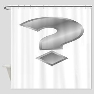 Silver Question Mark Shower Curtain