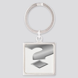 Silver Question Mark Keychains