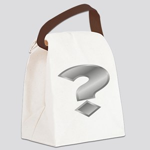 Silver Question Mark Canvas Lunch Bag