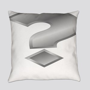 Silver Question Mark Everyday Pillow