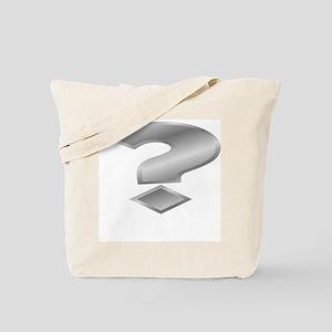 Silver Question Mark Tote Bag