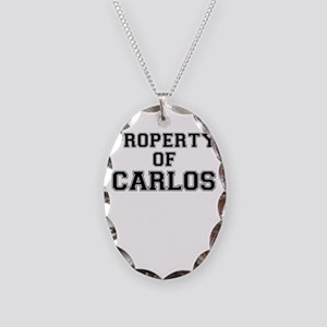 Property of CARLOS Necklace Oval Charm