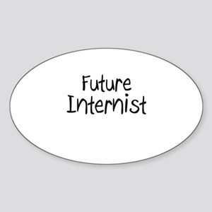 Future Internist Oval Sticker