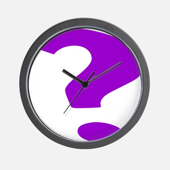 Purple Question Mark Wall Clock