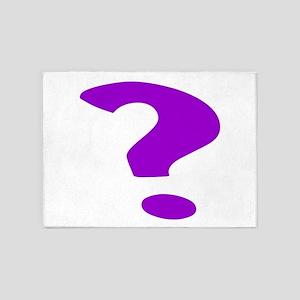 Purple Question Mark 5'x7'Area Rug