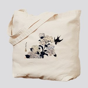 """Hydrangea and Swallow"" Tote Bag"