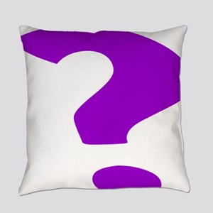 Purple Question Mark Everyday Pillow