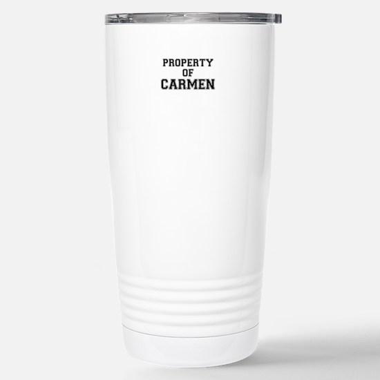 Property of CARMEN Stainless Steel Travel Mug
