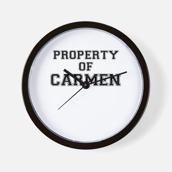 Property of CARMEN Wall Clock