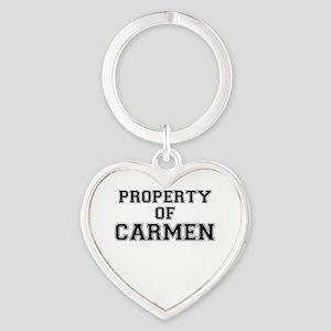 Property of CARMEN Keychains