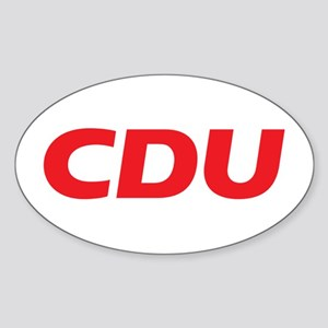 CDU Logo 2017 Sticker (Oval)