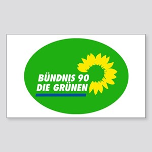 German Green Party Sticker (Rectangle)
