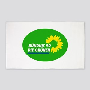 German Green Party Area Rug