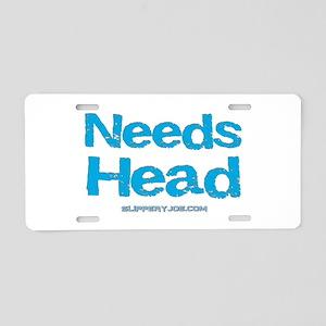 Head-5 Aluminum License Plate