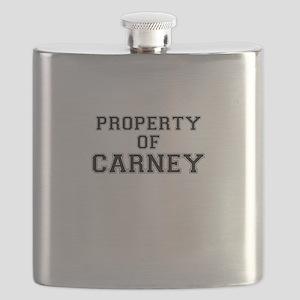 Property of CARNEY Flask