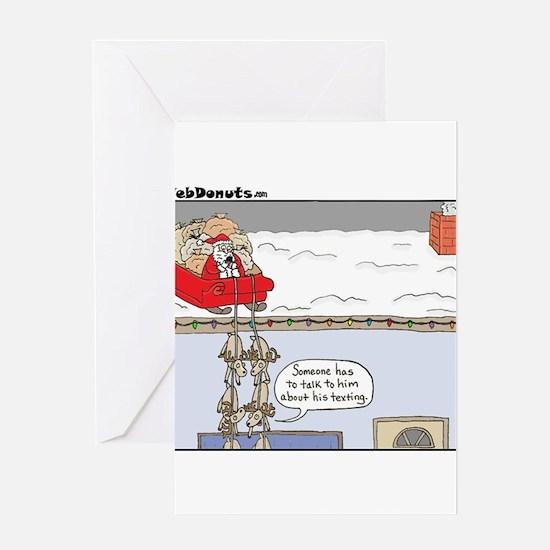 Santa-texting.jpg Greeting Cards