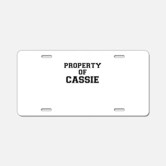 Property of CASSIE Aluminum License Plate