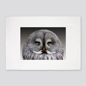 Baby Owl Photography 5'x7'Area Rug