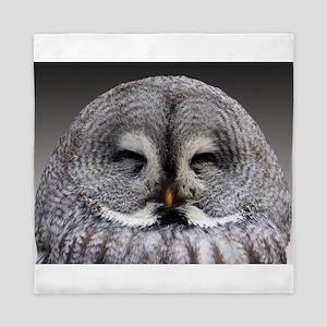Baby Owl Photography Queen Duvet