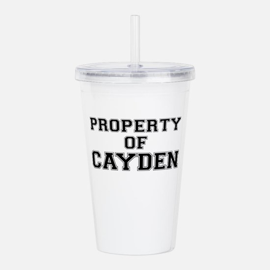 Property of CAYDEN Acrylic Double-wall Tumbler