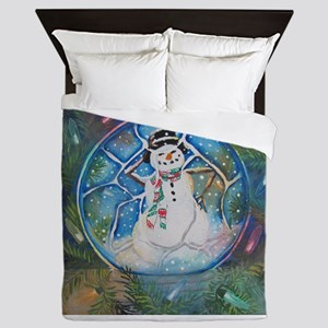 Snow globe Snow Man Queen Duvet