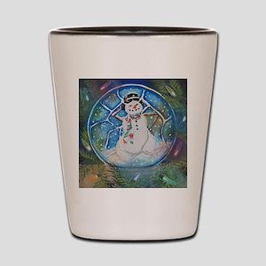 Snow globe Snow Man Shot Glass