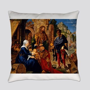Adoration of the Magi by Albrecht Everyday Pillow