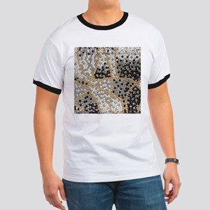 silver rhinestone art nouveau T-Shirt