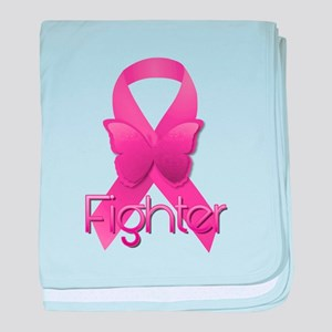 Breast Cancer Pink Ribbon baby blanket
