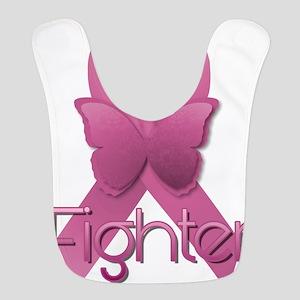 Breast Cancer Pink Ribbon Polyester Baby Bib
