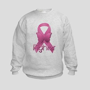 Breast Cancer Pink Ribbon Kids Sweatshirt