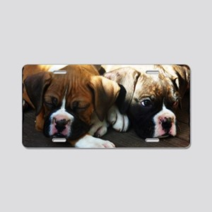 Boxer Puppies Aluminum License Plate
