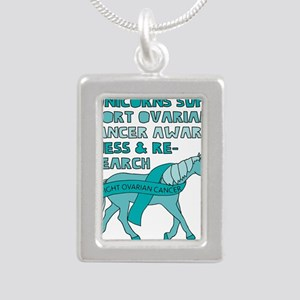 Unicorns Support Ovarian Cancer Awarenes Necklaces