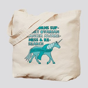 Unicorns Support Ovarian Cancer Awareness Tote Bag