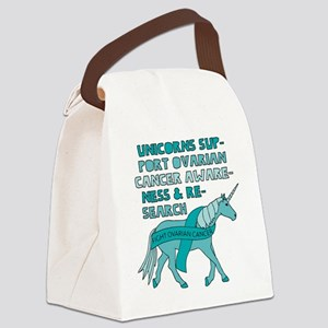 Unicorns Support Ovarian Cancer A Canvas Lunch Bag