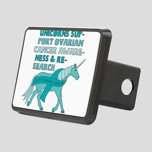 Unicorns Support Ovarian C Rectangular Hitch Cover